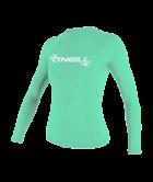 O'Neill Basic Skins Camiseta de manga larga para mujer Light Aqua