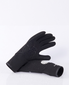 Rip Curl Flash Bomb Neoprene Gloves 5/3mm 5-Finger Black