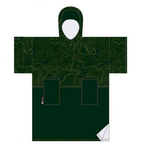 MADNESS Change Robe Poncho Unisize Army Topo Duo