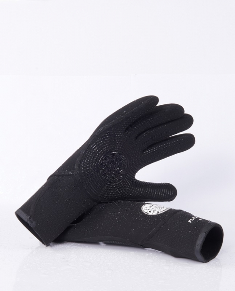 Rip Curl Flash Bomb Neoprene Gloves 3/2mm 5-Finger Black
